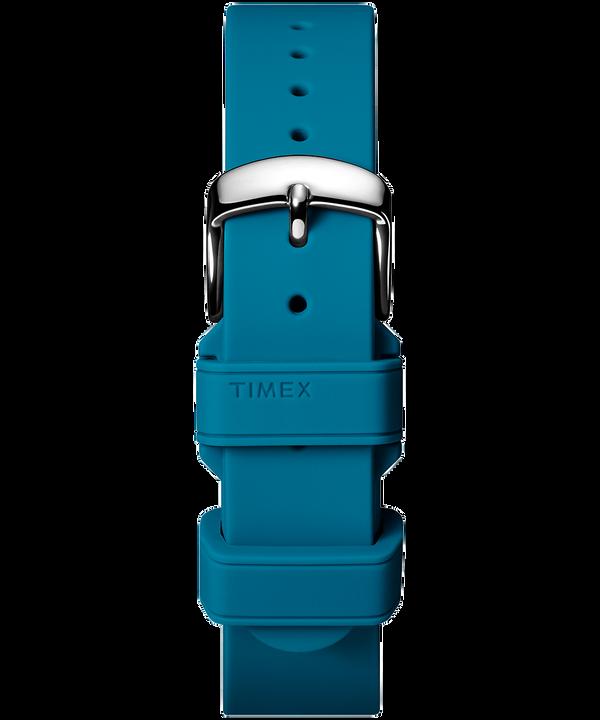 Bracelet deux pièces en silicone 18mm Blue large