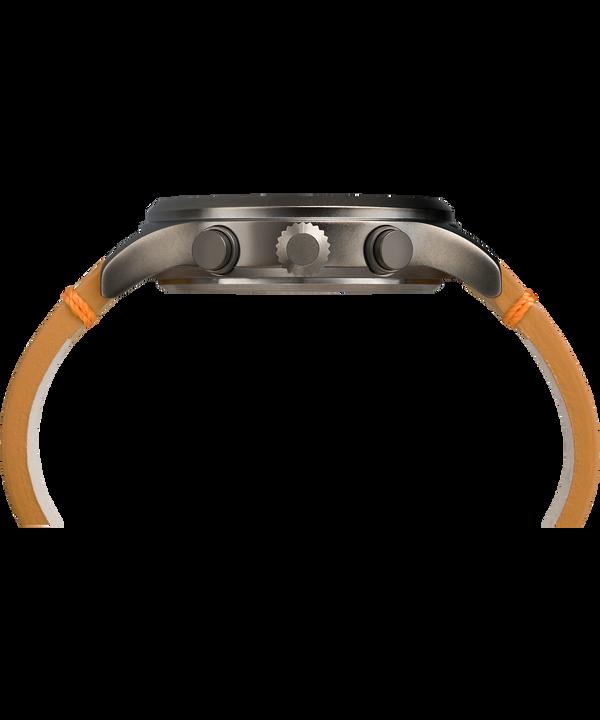 Montre chronomètre Expedition Scout 42mm Bracelet en cuir Gray/Tan/Green large