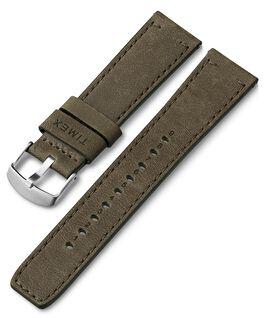 Bracelet en cuir à dégagement rapide 22mm Vert large