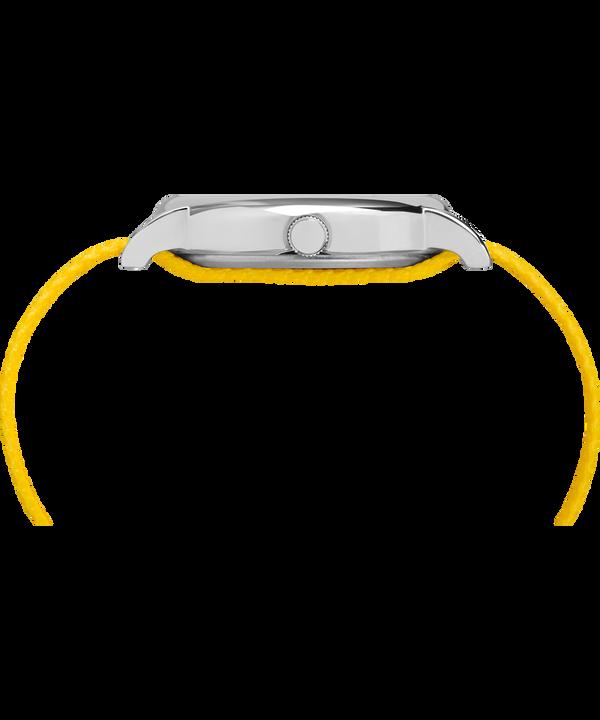 TimexxPeanuts - Montre Charlie Brown 38mm Bracelet en tissu Silver-Tone/Yellow/White large