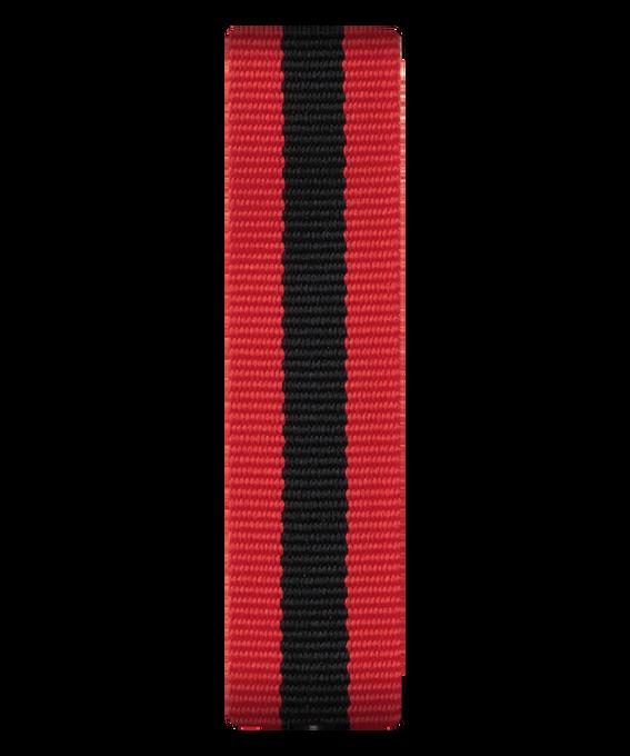 Bracelet une pièce en nylon rouge/noir  large