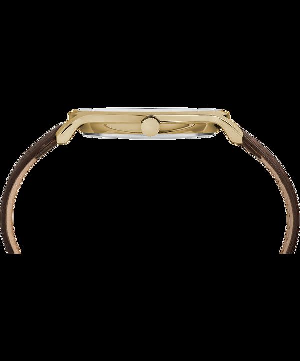 Metropolitan 40mm Leather Strap Watch Gold-Tone/Brown/Silver-Tone large