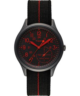 Bracelet IQ+ MOVE 41mm bracelet en tissu élastique avec lentille colorée Noir large