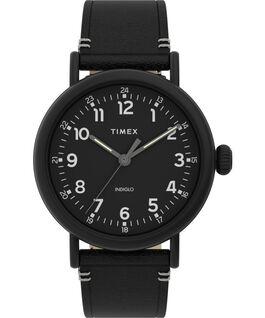 Montre Standard 41mm Bracelet en cuir Noir large