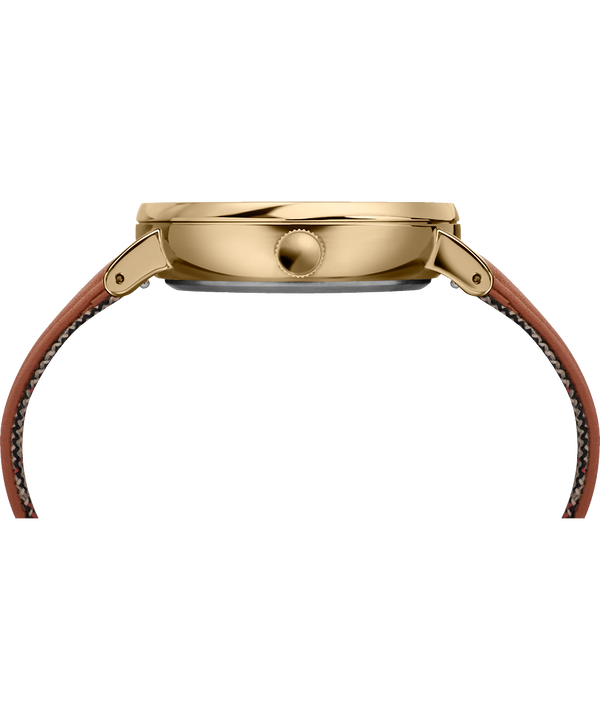 Montre Fairfield 41mm Sous-cadran des secondes et Bracelet en cuir Gold-Tone/Brown/Cream large