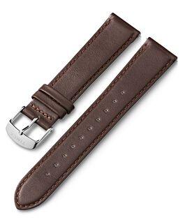Bracelet en cuir 20mm à dégagement rapide 1 Marron large