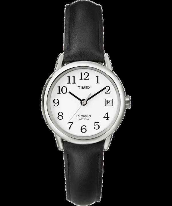 Montre Easy Reader 25mm Bracelet en cuir Silver-Tone/Black/White large