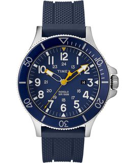 MONTRE ALLIED COASTLINE 43MM AVEC BRACELET EN SILICONE Silver-Tone/Blue large