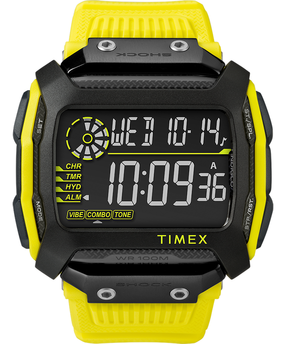 Command Shock 54mm Resin Strap Watch Yellow/Black large