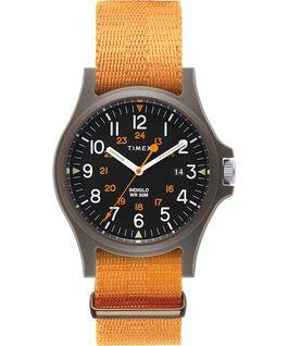 Montre Acadia 40mm Bracelet en tissu Vert/Orange/Noir large