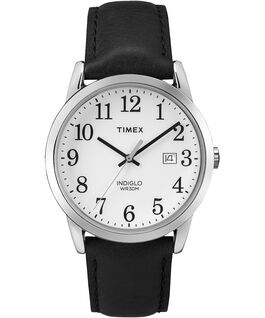 Montre Original Easy Reader 38 mm Bracelet en cuir Noir/Blanc large