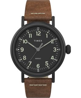 Montre Standard en cuir 40 mm Black/Brown/Black large