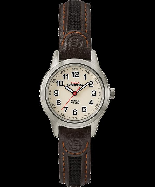 Montre Expedition Field Mini 26mm Bracelet en cuir Silver-Tone/Brown/Natural large