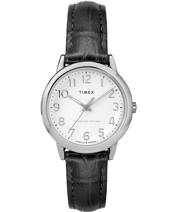 Montre Easy Reader 30mm Bracelet en cuir Chrome/Black/White large