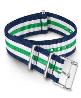 Bracelet une pièce à double couche en tissu 20mm Vert large