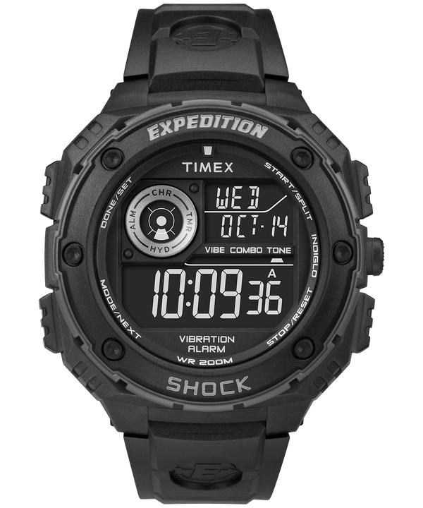Montre Expedition Vibe Shock 50 mm Bracelet en résine Black/Gray large