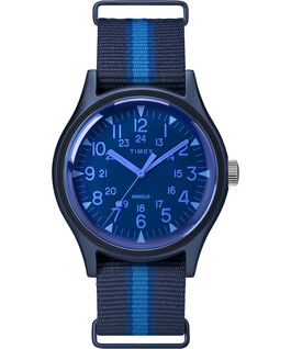 Montre MK1 California 40mm Bracelet en tissu Bleu large