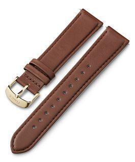 Bracelet en cuir 20mm à dégagement rapide  Marron large