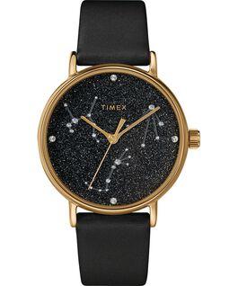 Montre Celestial Opulence 37mm Bracelet texturé Doré/Noir-BALANCE,SCORPION,SAGITTAIRE large
