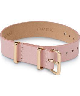 Bracelet en cuir une pièce couche simple or 16mm Rose large