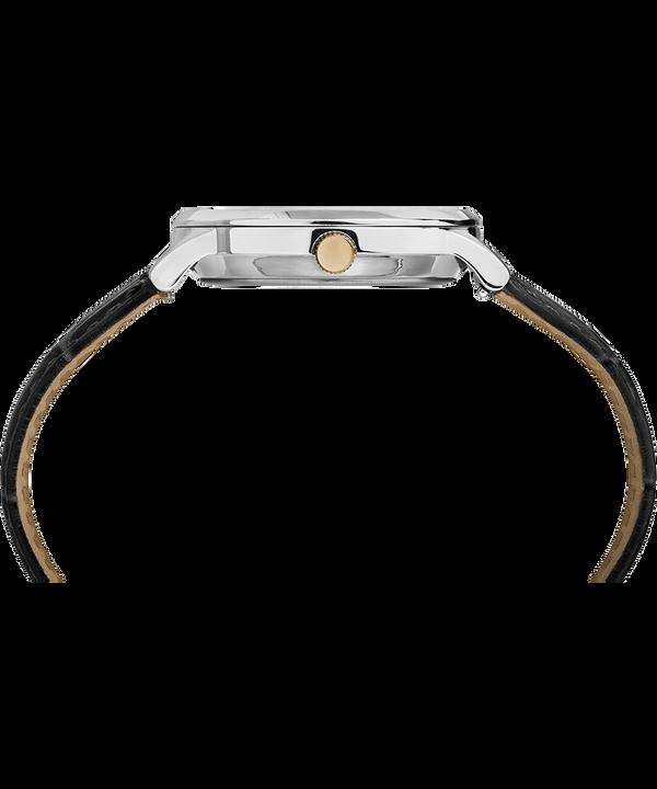 Montre Waterbury Classic 36mm Bracelet en cuir Stainless-Steel/Black/White large