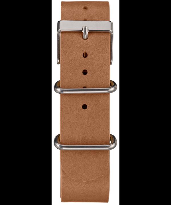 Montre chronomètre Weekender 40mm Bracelet en cuir Silver-Tone/Tan/Blue large