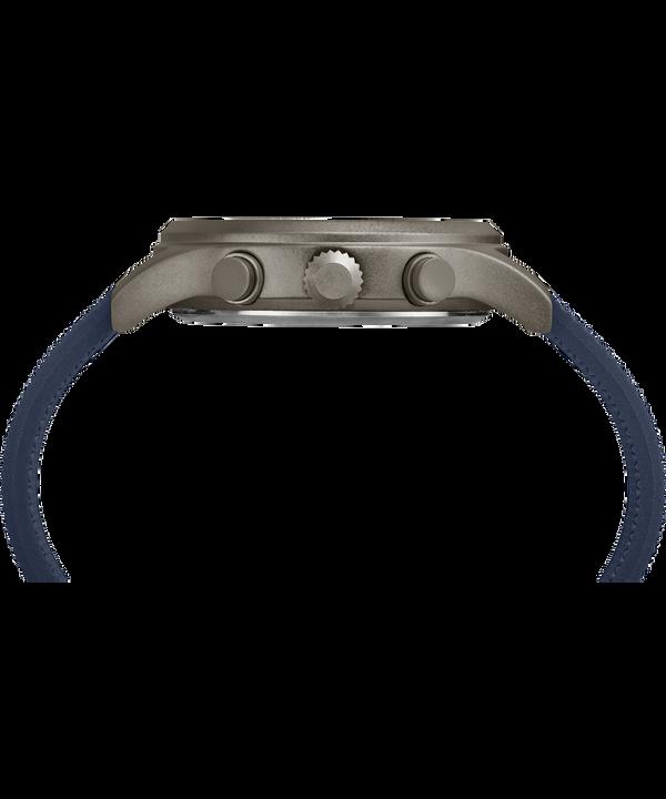 Montre chronomètre Allied 42mm Bracelet en silicone Gray/Blue large