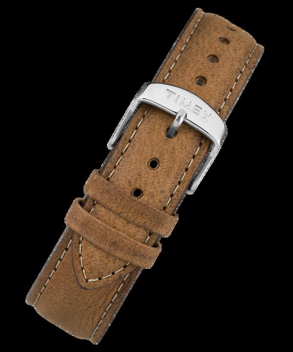 Bracelet en cuir noir à dégagement rapide 20mm Brown large