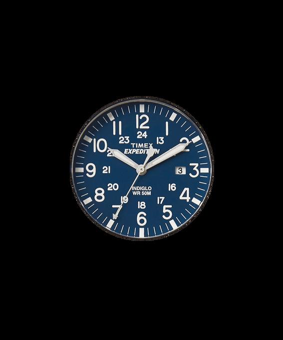 Cadran bleu/Trotteuse argentée  large