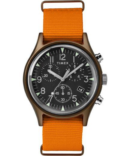 a3f217d46132 MK1 Aluminum Chronograph 40mm Fabric Strap Watch Green Orange Black large