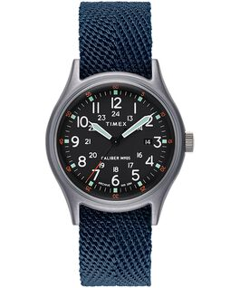 Montre MK1 40mm Bracelet en tissu Bleu large