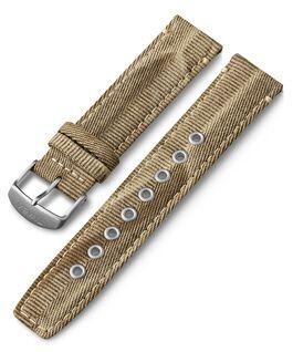 Bracelet en tissu à dégagement rapide 20mm Brun large