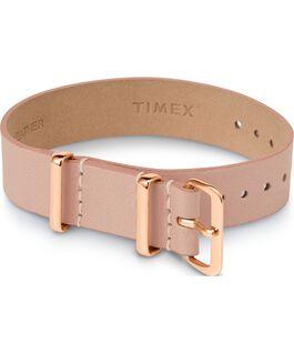 Bracelet une pièce en tissu une couche 16mm boucle rose doré Brun large