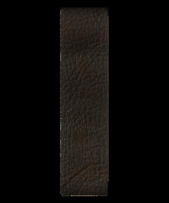 Bracelet une pièce en cuir marron foncé  large
