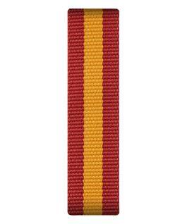 Bracelet une pièce en nylon rouge/jaune  large