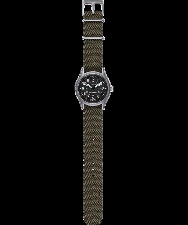Montre MK1 40mm Bracelet en tissu Argenté/Vert/Noir large