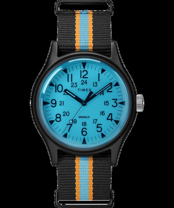 Montre MK1 California 40mm Bracelet en tissu Noir/Bleu large
