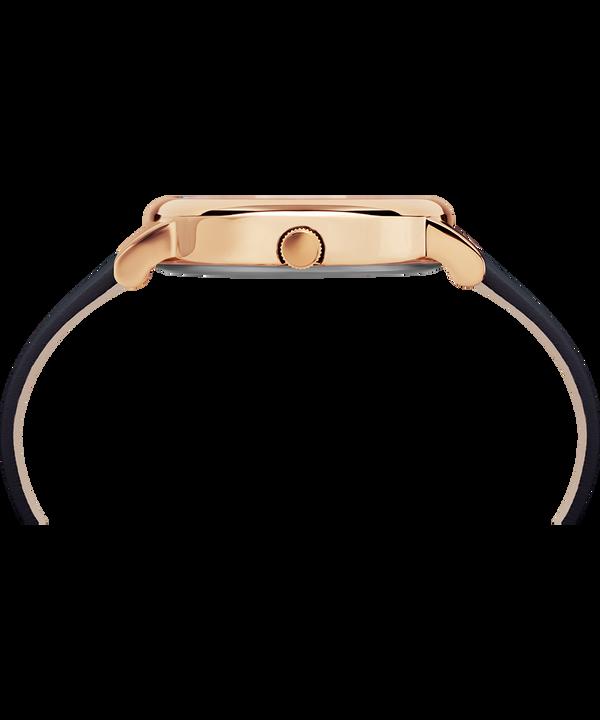 Montre Crystal Bloom 38mm avec cristaux Swarovski® et bracelet en cuir Rose-Gold-Tone/Blue large