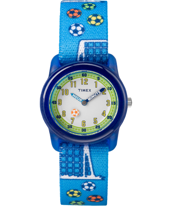 Kids Analog 32mm Nylon Strap Watch 1 Blue/White large