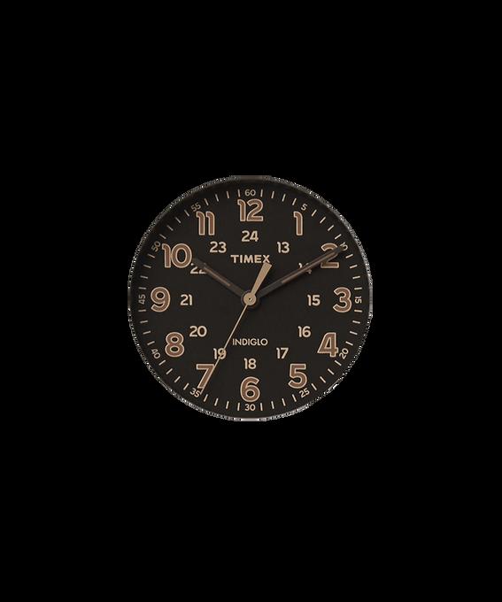 Cadran noir/Trotteuse brun clair  large