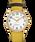 Easy-Reader-38mm-Exclusive-Color-Pop-Leather-Womens-Watch Doré/Jaune/Crème large