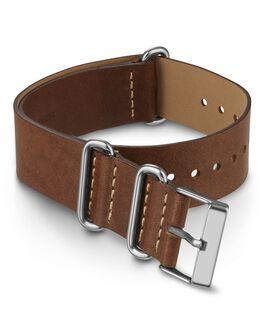 Bracelet en cuir une pièce à double couche 20mm Marron large