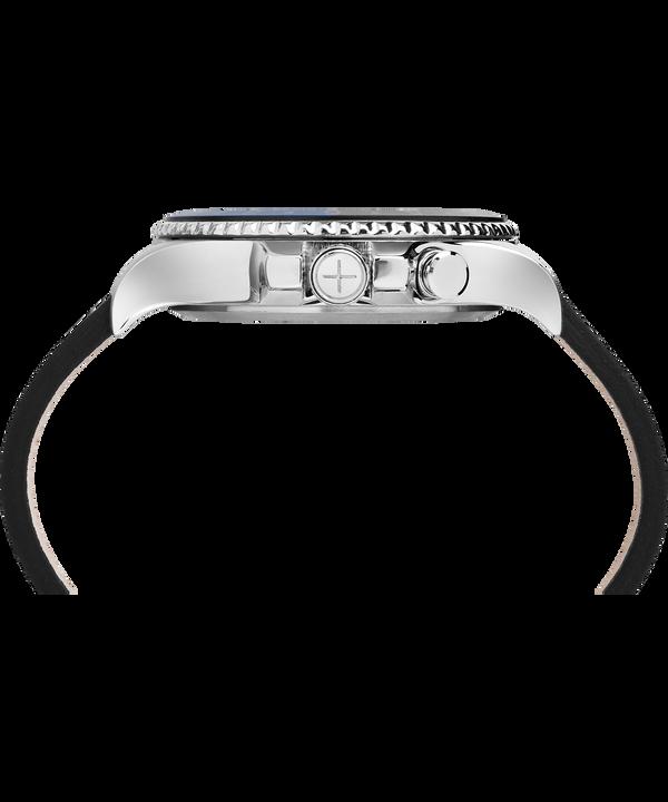 Montre Allied Three GMT 43mm Bracelet en cuir Stainless-Steel/Black large