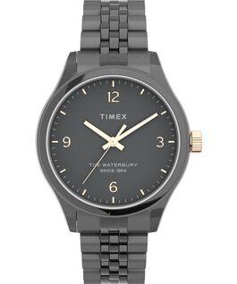 Waterbury Classic 34mm Watch Stainless Steel Gunmetal/Black/Rose-Gold-Tone large