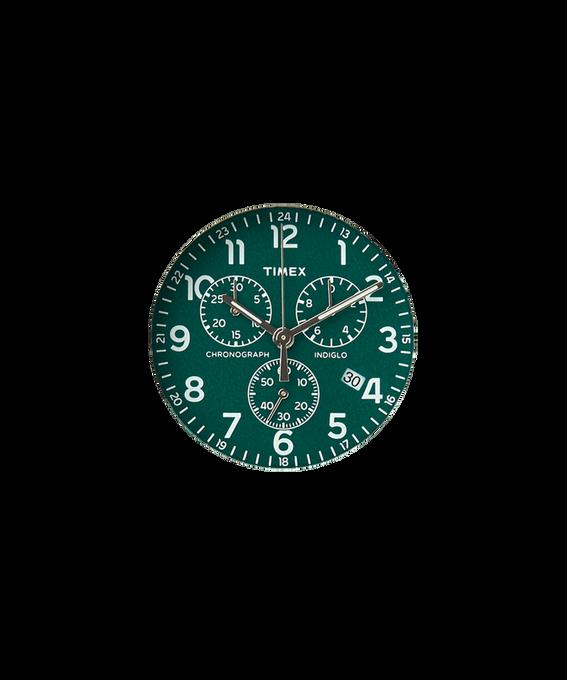 Cadran vert/Trotteuse argentée  large