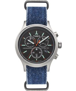Montre chronomètre Allied 42mm Bracelet en denim  large