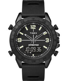 Montre Expedition Pioneer Combo avec bracelet en silicone à dégagement rapide 41mm Noir large