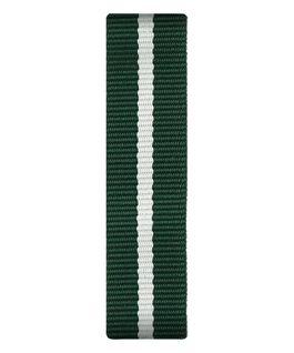 Bracelet une pièce en nylon vert/blanc  large