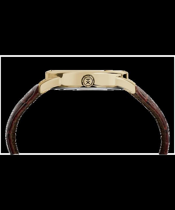 Montre Easy Reader Signature 38mm Bracelet en cuir Two-Tone/Brown/White large