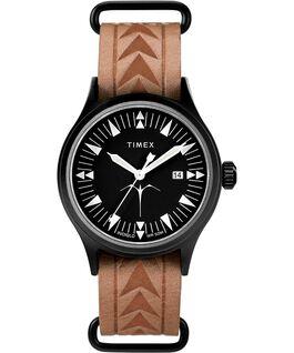 Montre Timex x Keone Nunes 40mm Bracelet en cuir Noir/Marron large